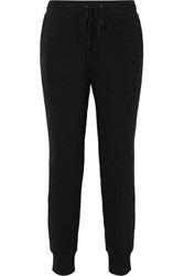 Madewell Stretch Cotton Terry Track Pants Black