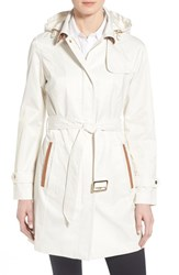 Women's Jones New York Faux Suede Trim Trench Coat