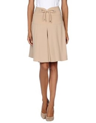 Miriam Ocariz Knee Length Skirts Beige