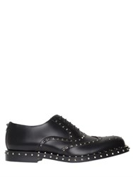 Valentino Studded Leather Brogue Oxford Shoes