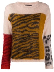 Luisa Cerano Tiger Knit Jumper Neutrals