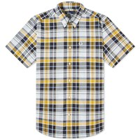 Fred Perry Authentic Short Sleeve Checked Shirt Yellow