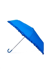 Forever 21 Ruffled Travel Umbrella Blue
