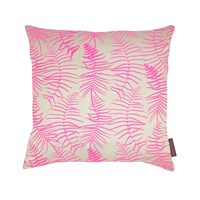 Clarissa Hulse Feather Fern Cushion 45X45cm Pebble Neon