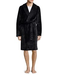 Ugg Shiny Wrap Short Robe Black