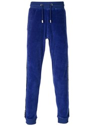 Blood Brother Velvet Track Pants Blue