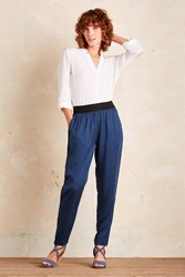 J. Lindeberg J.Lindeberg Emelie Tapered Trousers Blue Navy