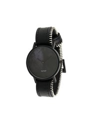 South Lane Avant Diffuse Watch Calf Leather Stainless Steel Black