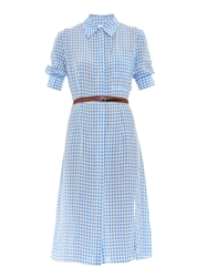 Altuzarra Kieran Crinkled Gingham Shirt Dress