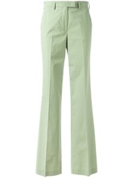 Etro High Waisted Flared Trousers Green