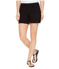 Hue Lace Trim Pique Shorts Black Women's Shorts