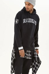 Forever 21 Nfl Raiders Fleece Hoodie Black Grey