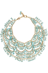 Rosantica Gold Dipped Turquoise Multi Strand Necklace