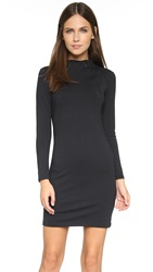 David Lerner Funnel Neck Dress Classic Black