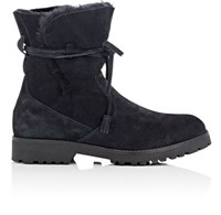 Barneys New York Women's Tasseled Tie Suede Ankle Boots Navy