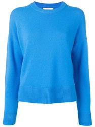 Pringle Of Scotland Cosy Cashmere Jumper Blue