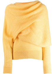 Rejina Pyo Draped Neck Jumper Yellow