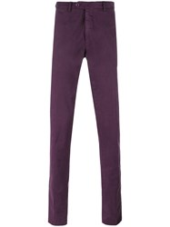 Biagio Sananiello Straight Leg Trousers Pink Purple