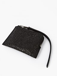 Rick Owens Black Embossed Leather Wallet