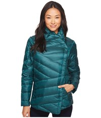 Nau Intersect Down Jacket Ponderosa Stripe Coat Blue