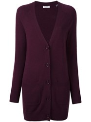 Equipment Long Cardigan Pink Purple