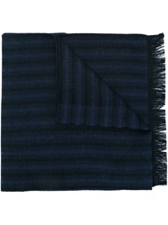 Canali Woven Scarf Blue