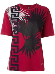Versus Printed T Shirt Red