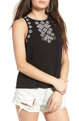 Sun And Shadow Women's Leah Embroidered Tank