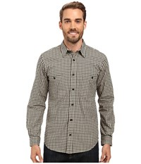 Filson Wildwood Shirt Black Desert Tan Gold Gingham Men's Clothing Gray