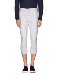 Daniele Alessandrini Trousers 3 4 Length Trousers Men White