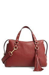 Cole Haan Cassidy Rfid Pebbled Leather Satchel Brown Fired Brick