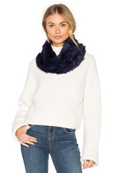 Arielle Rabbit Fur Snood Navy