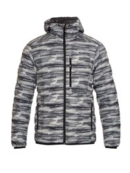 Peak Performance Helium Down Filled Hooded Nylon Jacket Grey Multi