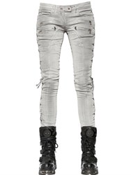 Faith Connexion Lace Up Coated Cotton Denim Jeans