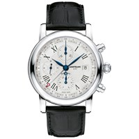 Montblanc 107113 Men's Star Chronograph Utc Automatic Alligator Strap Watch Black White