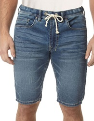 Buffalo David Bitton Drawstring Jean Shorts Blue