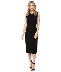 Rebecca Taylor Jersey Wrap Dress Black Women's Dress