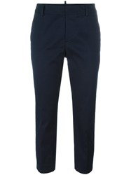 Dsquared2 Slim Cropped Trousers Blue