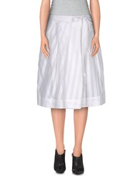 So Nice Skirts Knee Length Skirts Women White