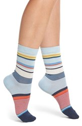 Paul Smith Eliza Stripe Crew Socks Navy
