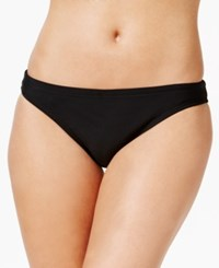 Speedo Endurance Lite Drawstring Bikini Bottoms Women's Swimsuit Black