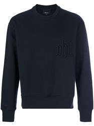 3.1 Phillip Lim Logo Embossed Sweatshirt Cotton M Blue