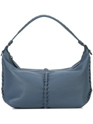 Bottega Veneta Small Cervo Hobo Bag Blue
