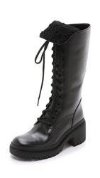Marc By Marc Jacobs Leigh Shearling Army Boots Black