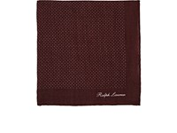 Ralph Lauren Purple Label Pin Dot Cashmere Pocket Square Wine