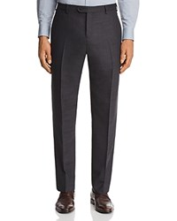 Emporio Armani Micro Check Classic Fit Dress Pants Charcoal Micro Check