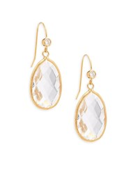 Rivka Friedman Crystal 18K Goldplated Drop Earrings No Color