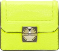 Marc By Marc Jacobs Neon Yellow Leather Top Schooly Jax Bag