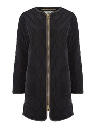Noa Noa Quilted Coat Black