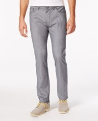 Vince Camuto Light Grey Slub Linen Pant With Stretch Navy